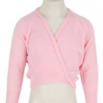 Pink Ballet Cross-Over Cardigan for Girls